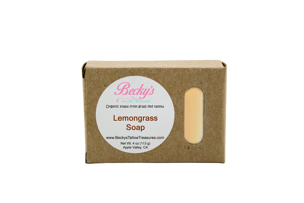 Lemongrass Body Soap -- Smudged Label