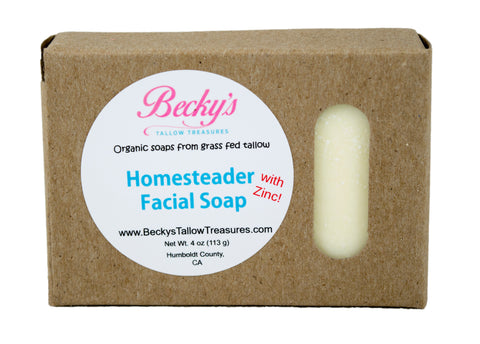 Homesteader with Zinc! Facial Soap