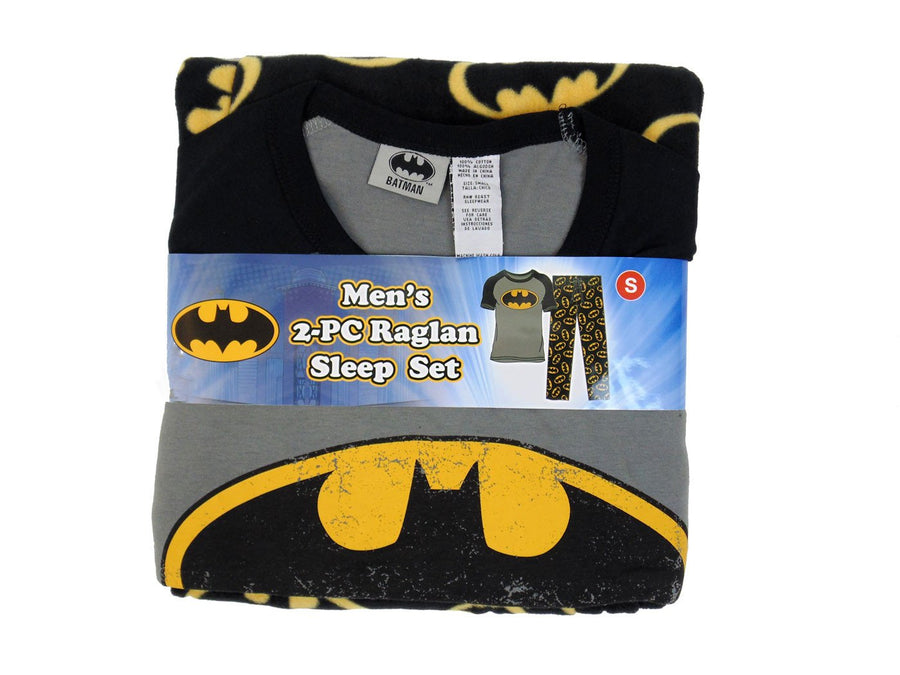 Batman 2pc Raglan Sleep Set Men's