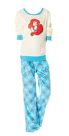 Disney's Pajama Set Little Mermaid Top and Bottom Juniors