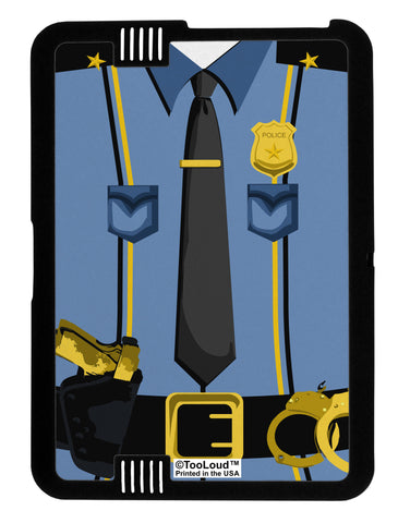 Police Blue-Gold AOP Black Kindle Fire HD Cover All Over Print