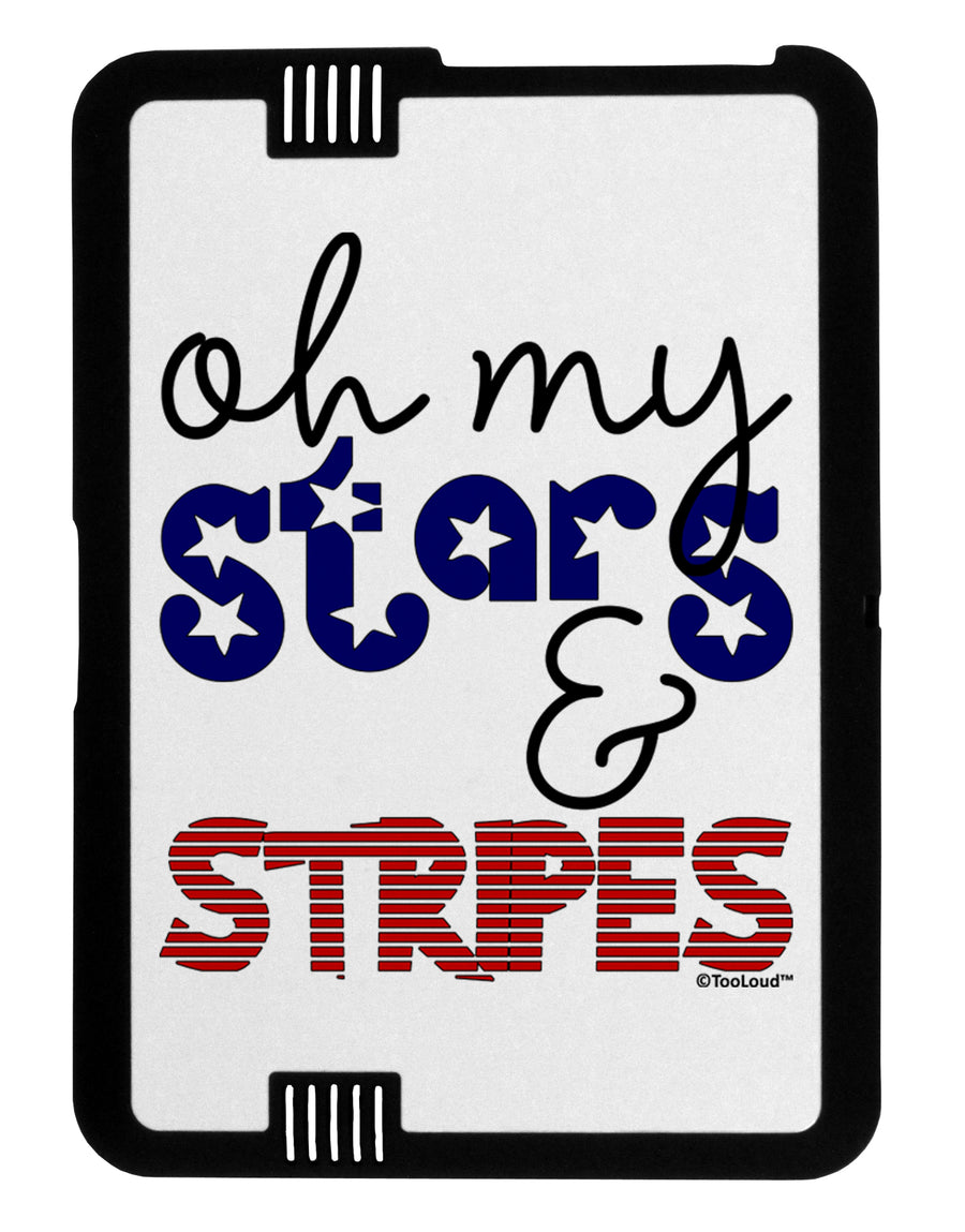 Oh My Stars and Stripes - Patriotic Design Black Jazz Kindle Fire HD Cover by TooLoud