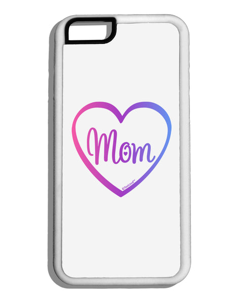 mom heart design gradient colors white dauphin iphone 6. Black Bedroom Furniture Sets. Home Design Ideas