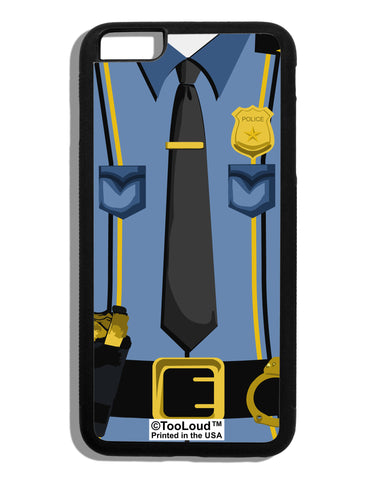Police Blue-Gold AOP Black iPhone 6 Plus Cover All Over Print