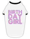 Birthday Girl - Pink and Purple Dots Stylish Cotton Dog Shirt by TooLoud