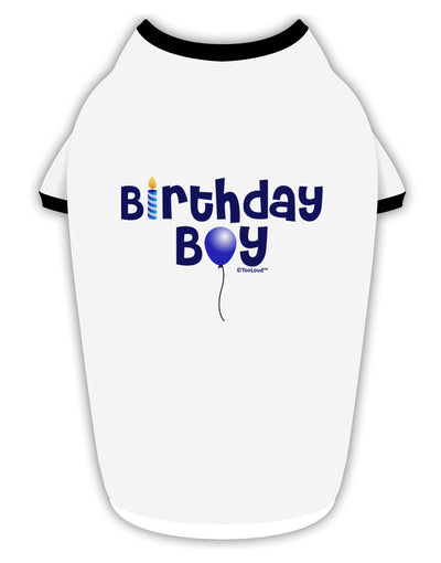 Birthday Boy - Candle and Balloon Stylish Cotton Dog Shirt by TooLoud