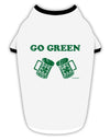 Go Green - St. Patrick's Day Green Beer Stylish Cotton Dog Shirt by TooLoud