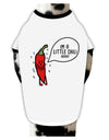 I'm a Little Chilli Dog Shirt White with Black Small