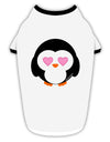 Cute Penguin - Heart Eyes Stylish Cotton Dog Shirt by TooLoud
