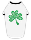 St. Patrick's Day Shamrock Design - Shamrocks Stylish Cotton Dog Shirt by TooLoud