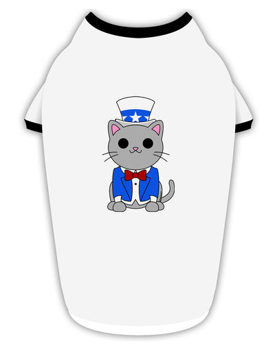 Patriotic Cat Stylish Cotton Dog Shirt by TooLoud