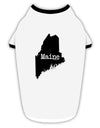 Maine - United States Shape Stylish Cotton Dog Shirt by TooLoud