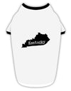 Kentucky - United States Shape Stylish Cotton Dog Shirt by TooLoud