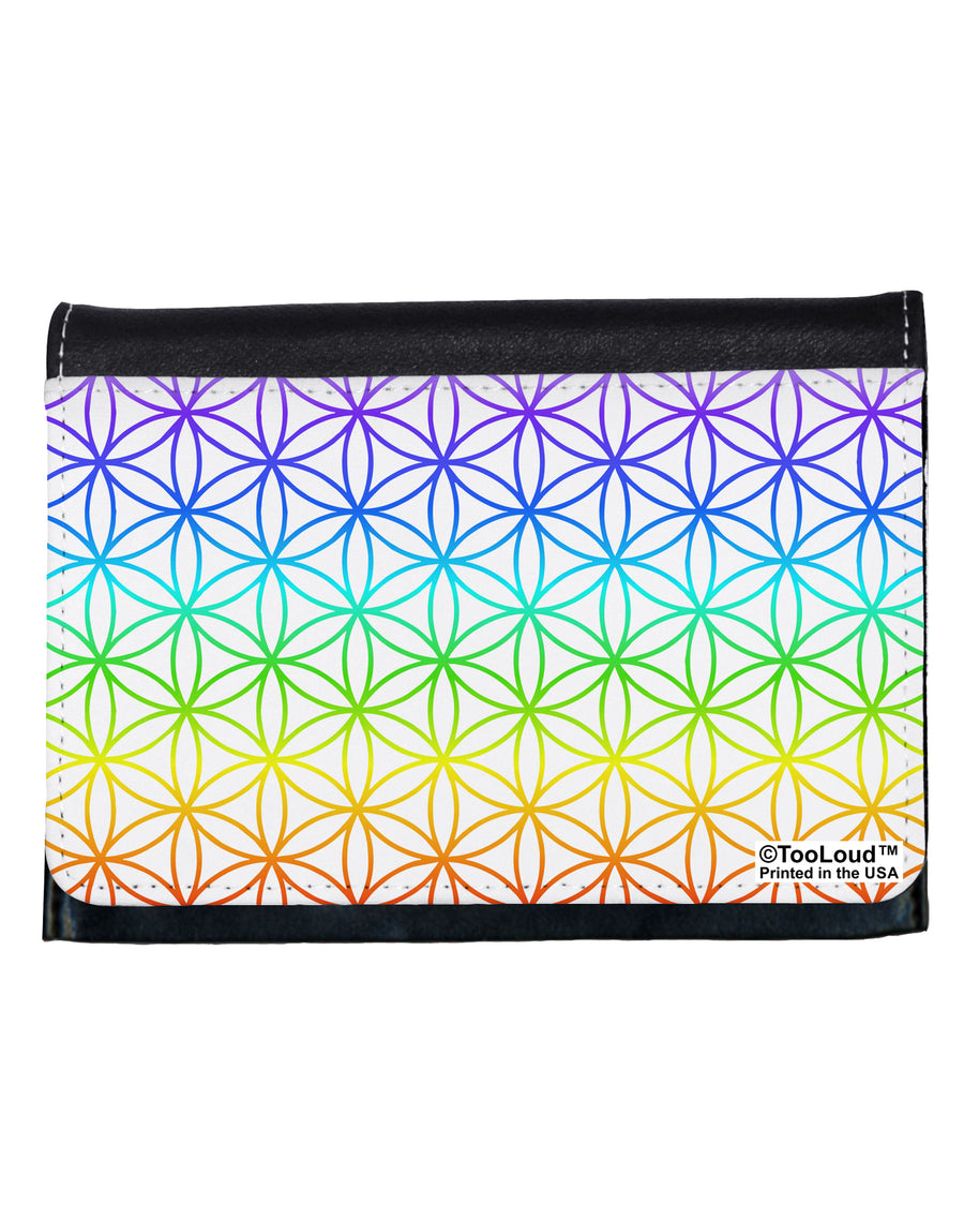 Chakra Flower of Life on White Ladies Wallet All Over Print by TooLoud