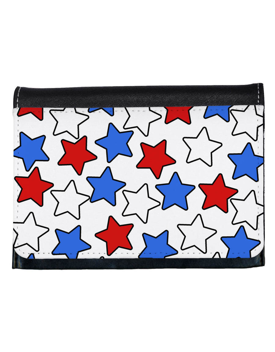 Red White And Blue Stars Ladies Wallet by TooLoud