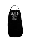 Time to Give Thanks Plus Size Dark Apron Tooloud