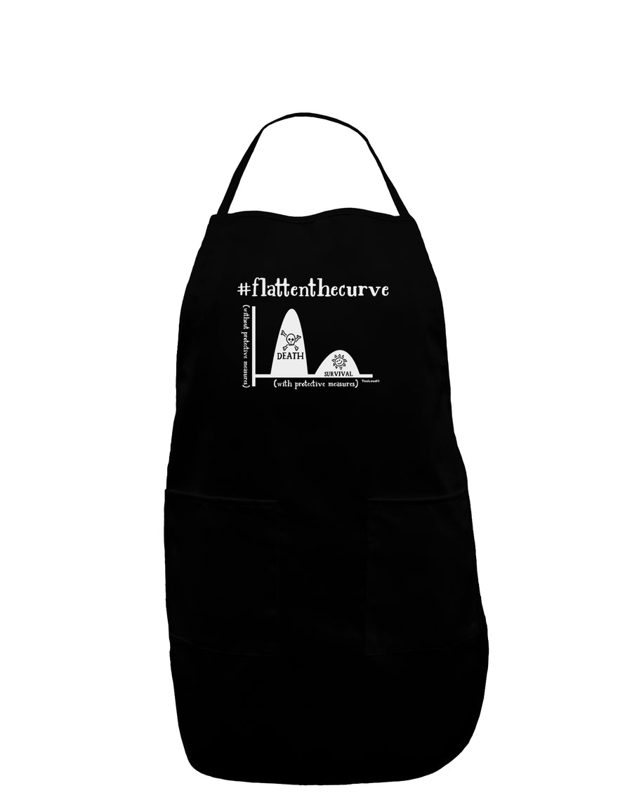 Flatten the Curve Graph Plus Size Dark Apron Tooloud