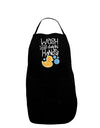 Wash your Damn Hands Plus Size Dark Apron Tooloud