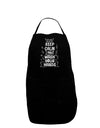 Keep Calm and Wash Your Hands Plus Size Dark Apron Tooloud