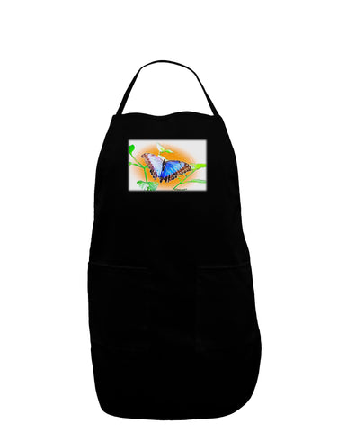 Blue Watercolor Butterfly Dark Adult Apron