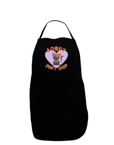 Adopt Don't Shop Cute Kitty Dark Adult Apron