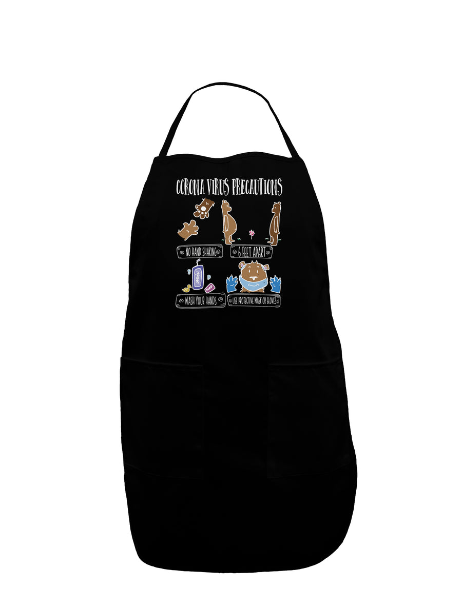 Corona Virus Precautions  Plus Size Dark Apron Tooloud