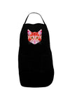 Geometric Kitty Red Plus Size Dark Apron