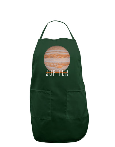 Planet Jupiter Earth Text Dark Adult Apron