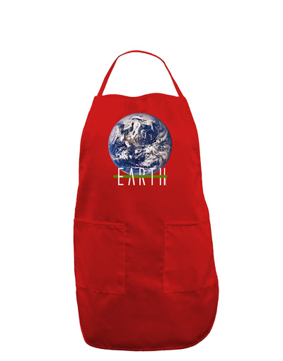 Planet Earth Text Dark Adult Apron
