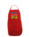 Happy Mardi Gras Text 2 Dark Adult Apron