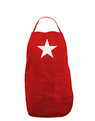 White Star Dark Adult Apron - Red - One-Size Tooloud