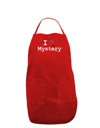 I Love Mystery Dark Adult Apron