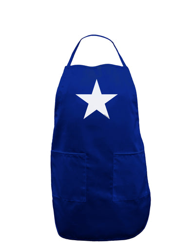 White Star Dark Adult Apron - Royal Blue - One-Size Tooloud