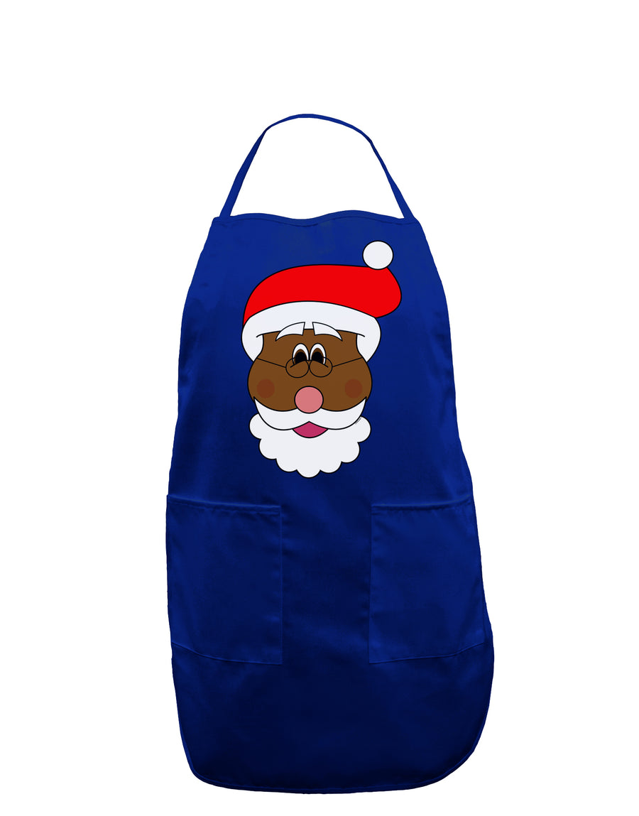 Black Santa Claus Face Christmas Dark Adult Apron