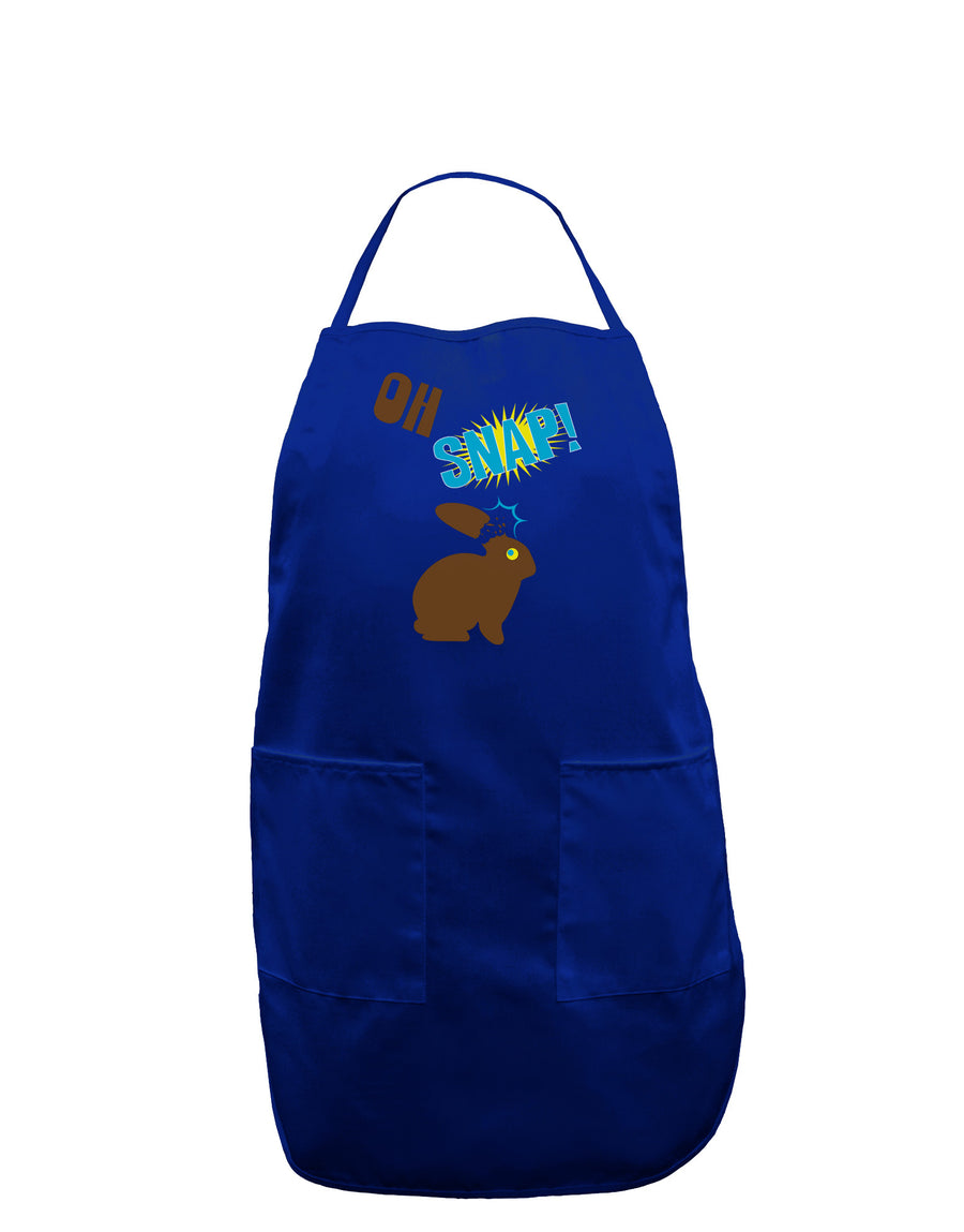 TooLoud Oh Snap Chocolate Easter Bunny Dark Adult Apron