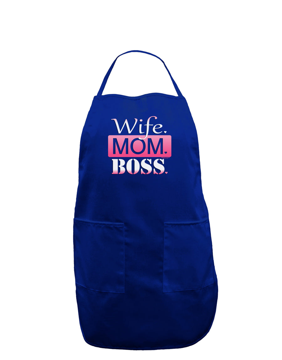 Wife Mom Boss Dark Adult Apron