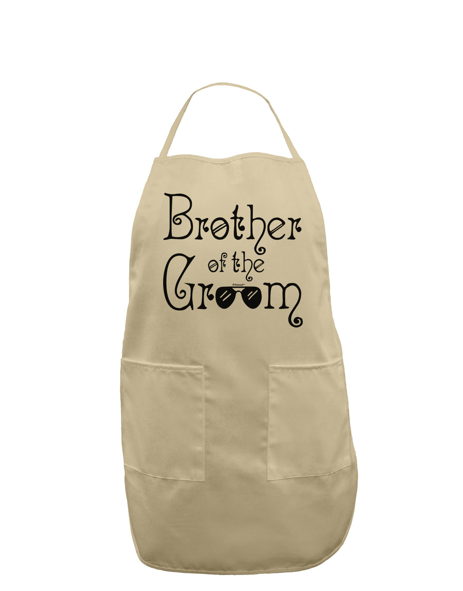 Brother of the Groom Adult Apron White One-Size Tooloud