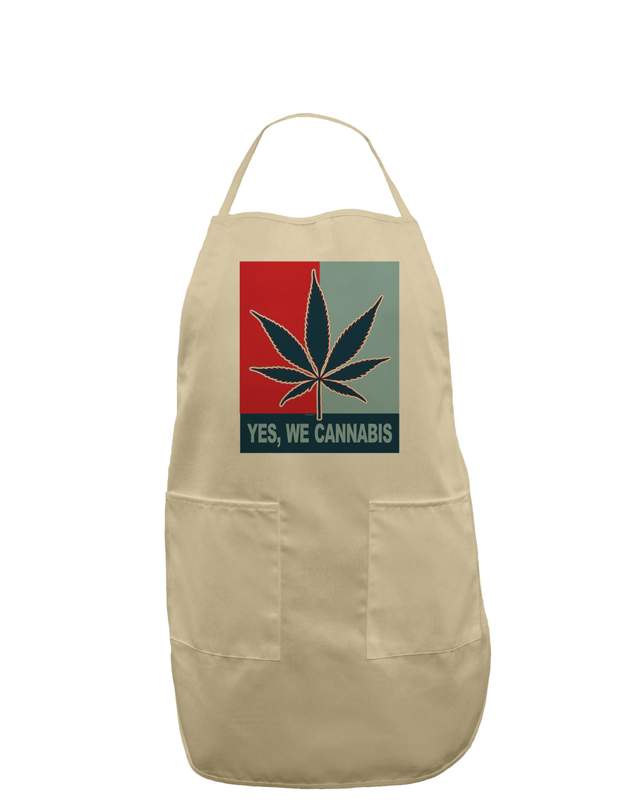 Yes We Cannabis - Marijuana Leaf Adult Apron