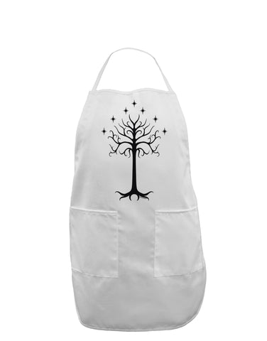 The Royal White Tree Adult Apron by TooLoud