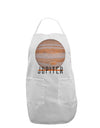 Planet Jupiter Earth Text Adult Apron