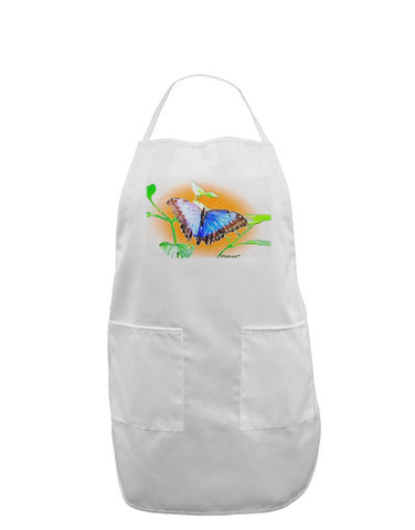 Blue Watercolor Butterfly Adult Apron