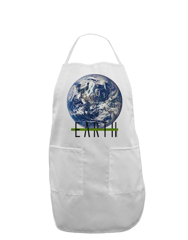 Planet Earth Text Adult Apron