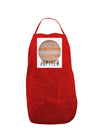 Planet Jupiter Earth Text Panel Dark Adult Apron