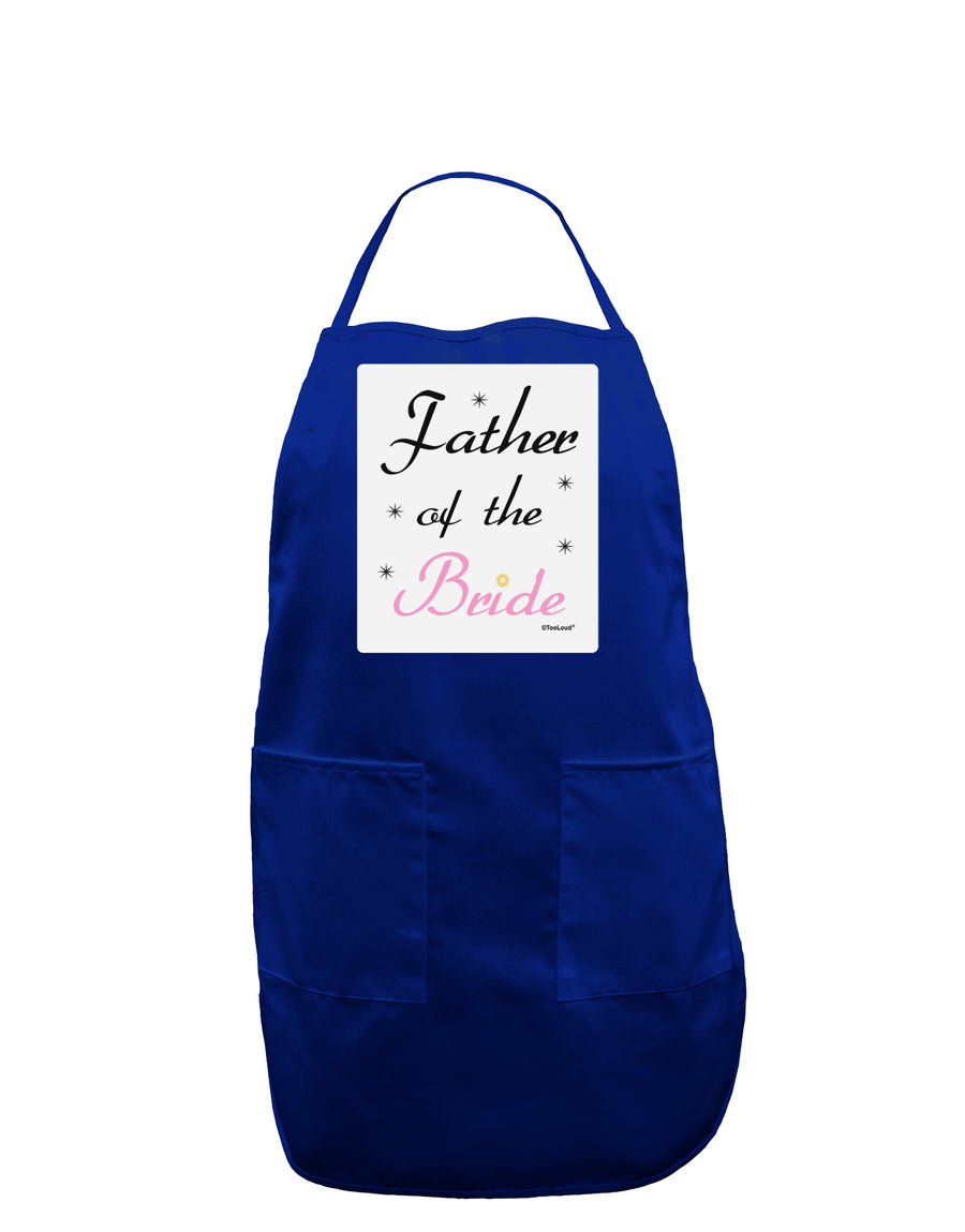 Father of the Bride wedding Panel Dark Adult Apron by TooLoud