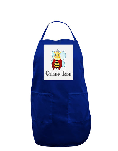 Queen Bee Text Panel Dark Adult Apron