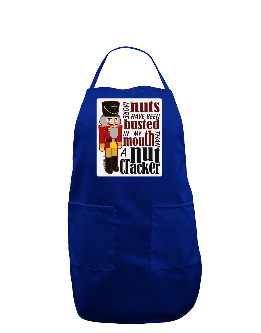 More Nuts Busted - My Mouth Panel Dark Adult Apron by