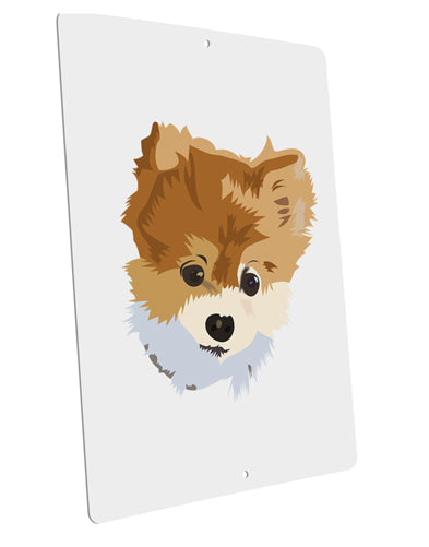 "Custom Pet Art Large Aluminum  Sign 12 x 18"" - Portrait by TooLoud"
