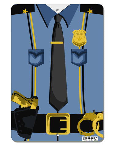 "Police Blue-Gold AOP Aluminum 8 x 12"" Aluminum Sign All Over Print"