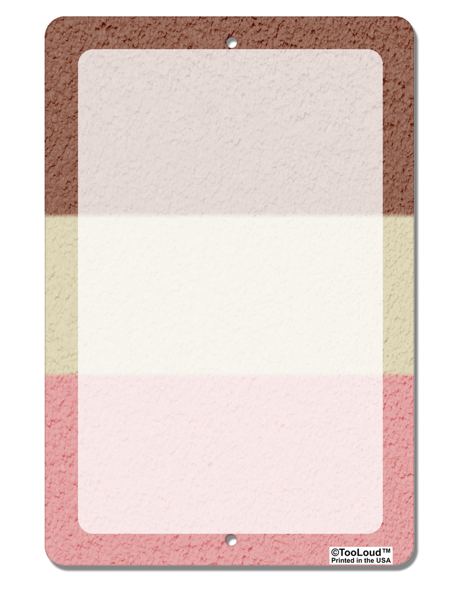 "Horizontal Neapolitan Ice Cream Aluminum 8 x 12"" Dry Erase Board Sign All Over Print by TooLoud"