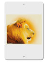 "Lion Watercolor 3 Aluminum 8 x 12"" Sign"